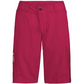 VAUDE Ledro Pantalones cortos Mujer, crimson red